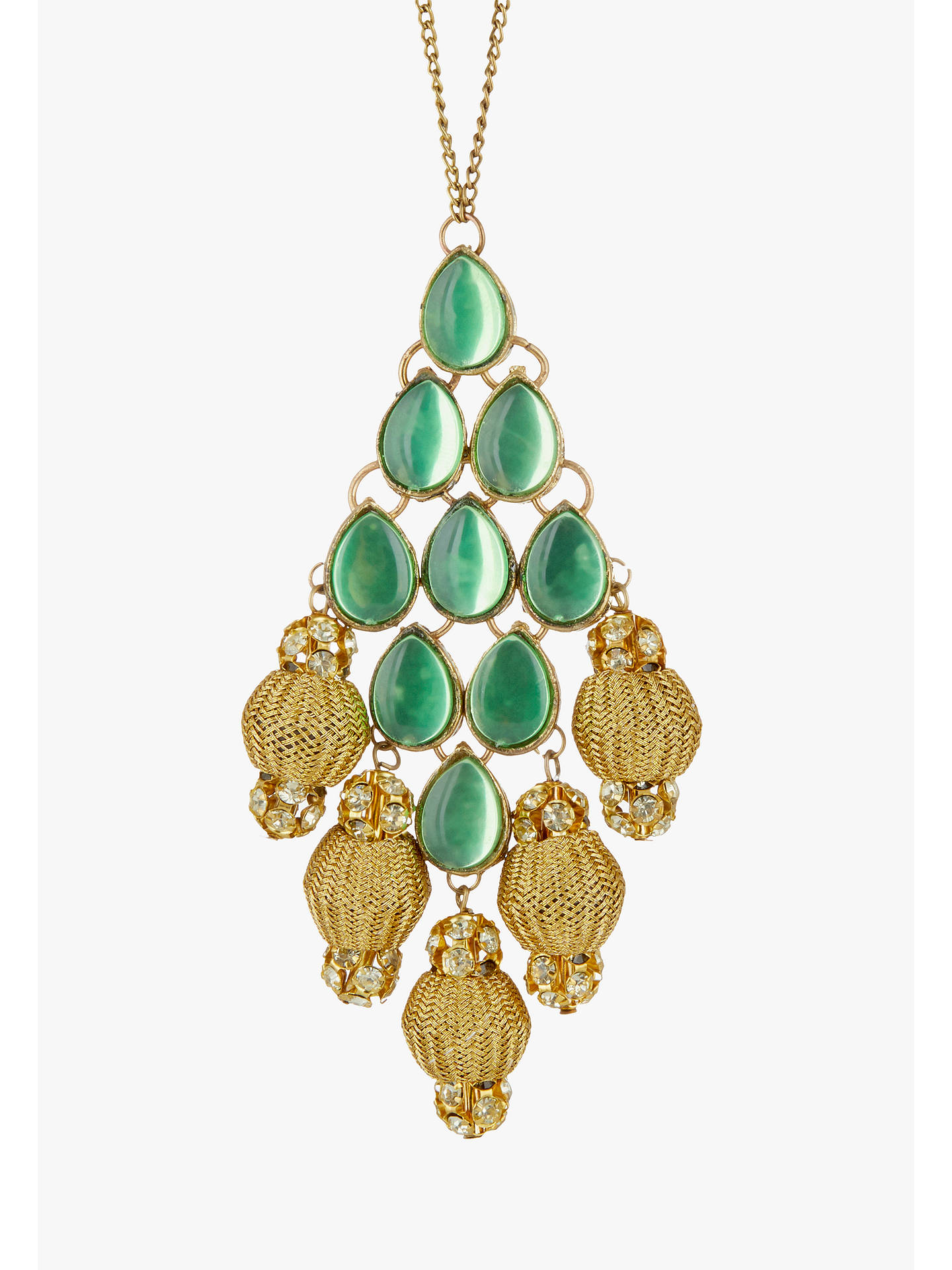 Buy John Lewis & Partners Emerald Gold Gem Tree Decoration, Green Online at johnlewis.com