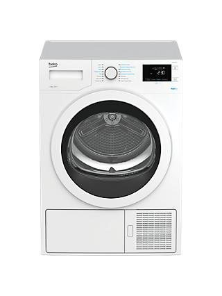 Beko DPH8744W Freestanding Heatpump Tumble Dryer, 8kg Load, A++ Energy Rating, White