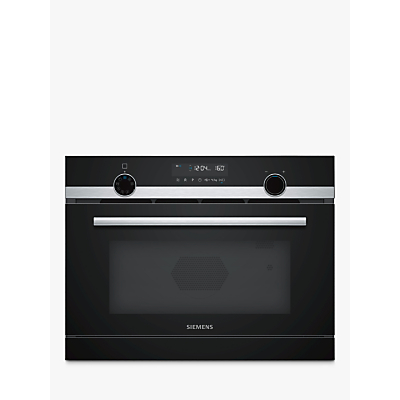 Siemens iQ500 CP565AGS0B Built-In Combination Microwave with Steam, Stainless Steel/Black