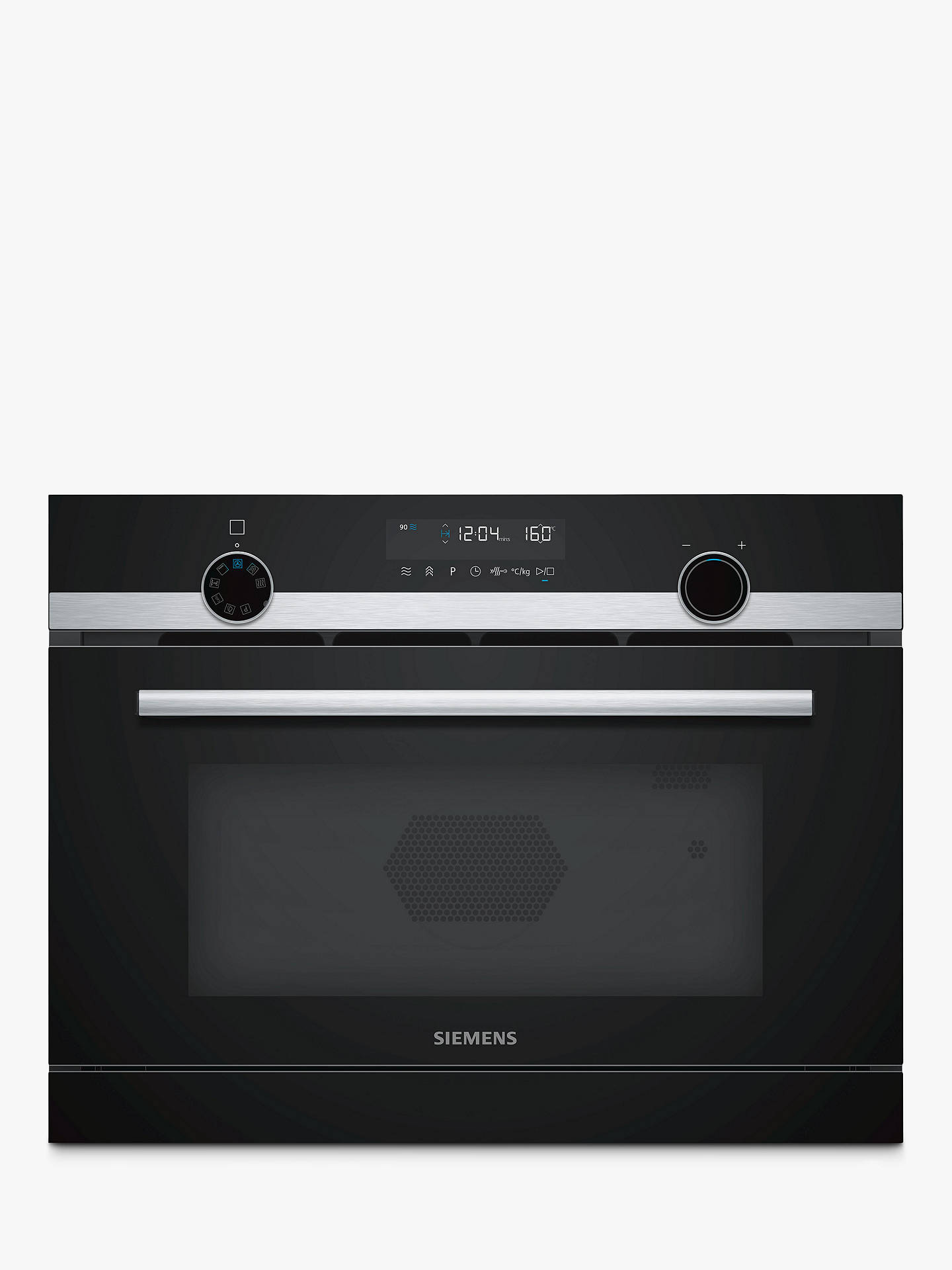 Siemens Iq500 Cp565ags0b Built In Combination Microwave With Steam Stainless Steel Black Online