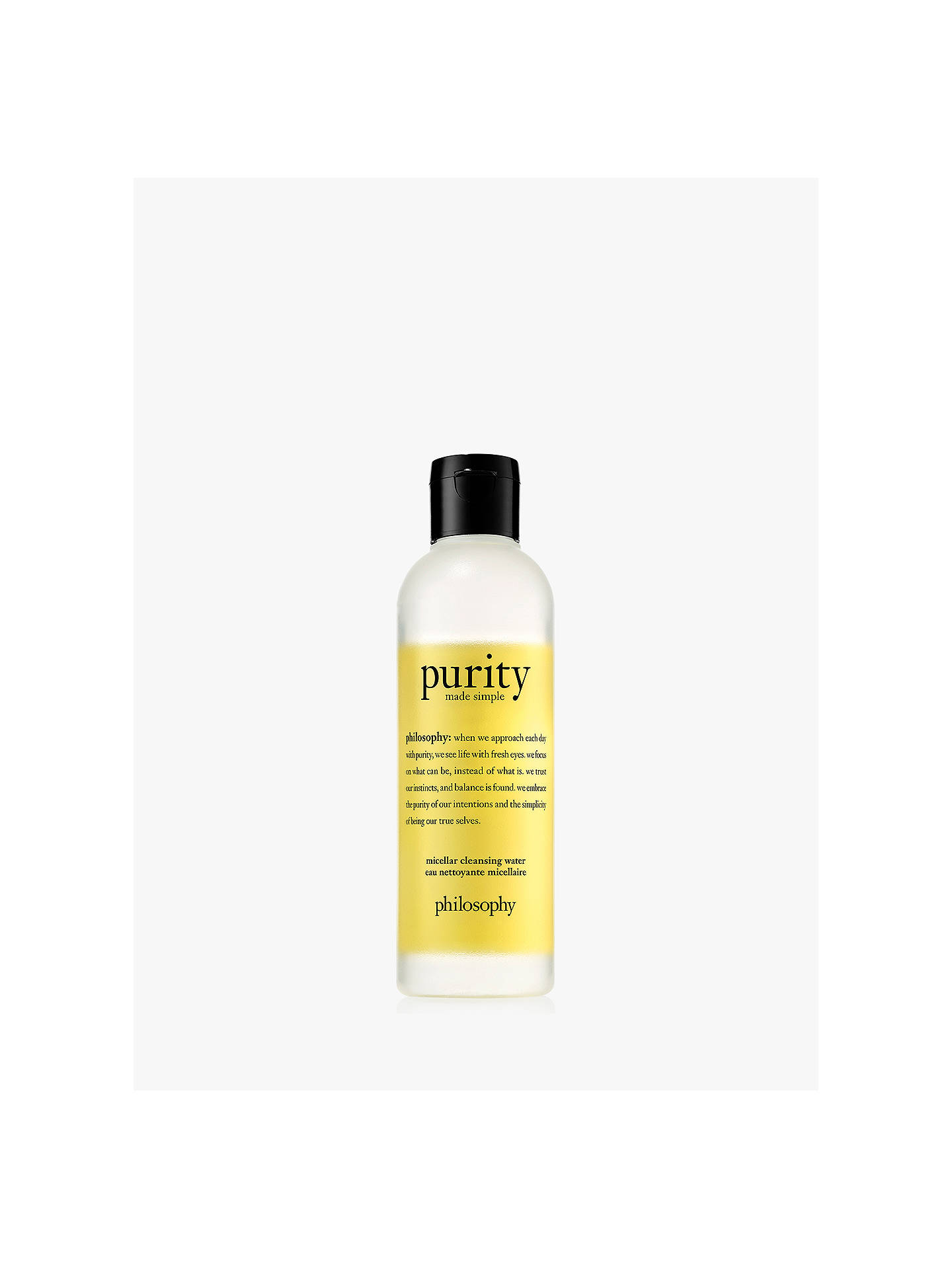Buy Philosophy Purity Made Simple Cleansing Micellar Water, 200ml Online at johnlewis.com