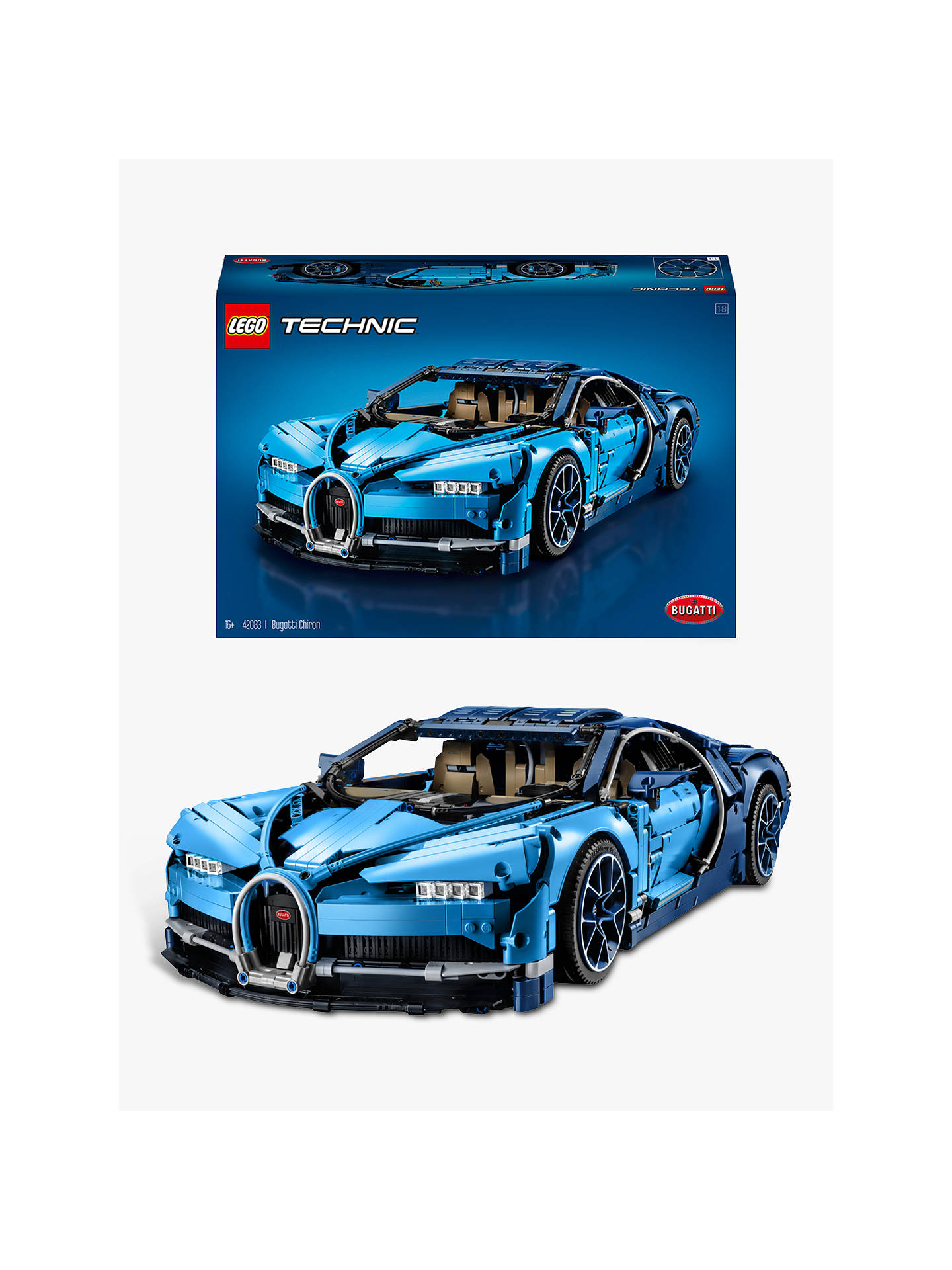 Lego Technic 42083 Bugatti Chiron Supercar Online At Johnlewis