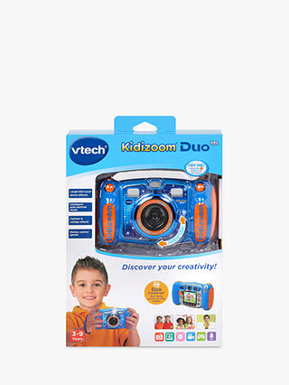 Buy VTech Kidizoom 5.0 Megapixel Duo Children's Camera with 4GB SD Card, Blue Online at johnlewis.com
