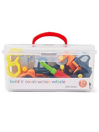 John Lewis & Partners Build It Construction Vehicle Box