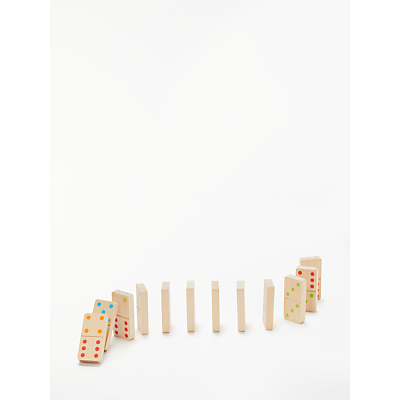 Image of John Lewis & Partners Classic Wooden Dominoes Set