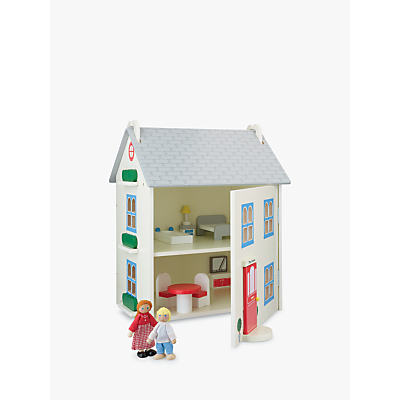 John Lewis & Partners Wooden Dolls House with Furniture
