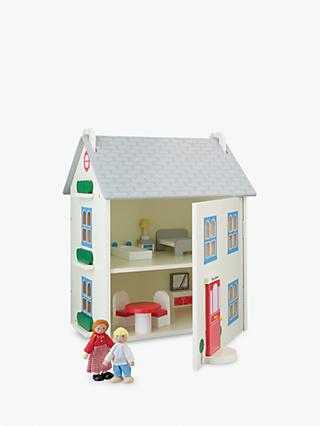 John Lewis & Partners Wooden Doll's House with Furniture