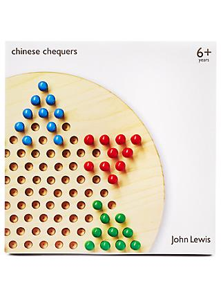 John Lewis & Partners Chinese Chequers Wooden Game