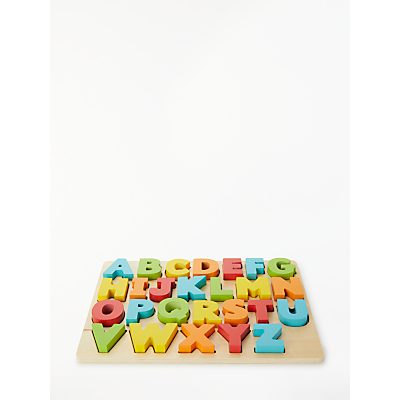 Image of John Lewis & Partners Chunky Wooden ABC Puzzle