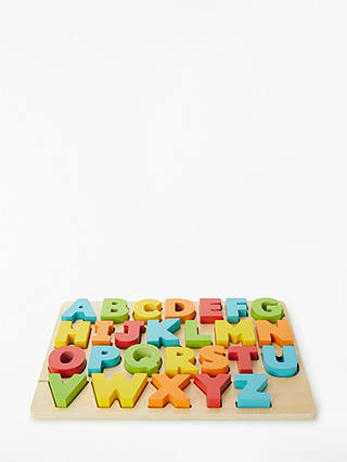 Buy John Lewis & Partners Chunky Wooden ABC Puzzle Online at johnlewis.com