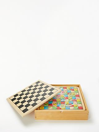 John Lewis & Partners 6 in 1 Wooden Games Compendium