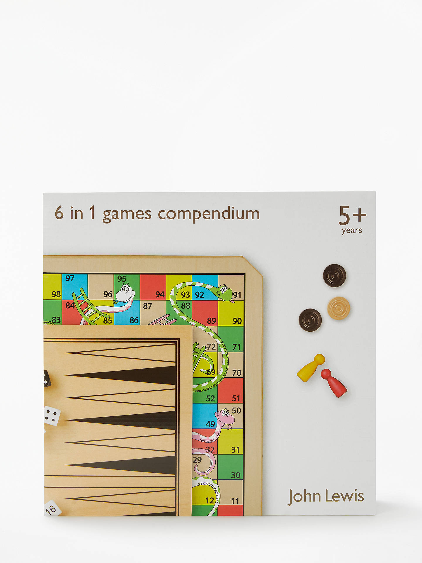 Buy John Lewis & Partners 6 in 1 Wooden Games Compendium Online at johnlewis.com