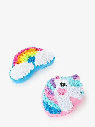 John Lewis & Partners Decorate Your Own Rainbow and Unicorn Cushion Set