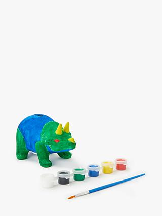John Lewis & Partners Paint Your Own Dinosaur Money Box