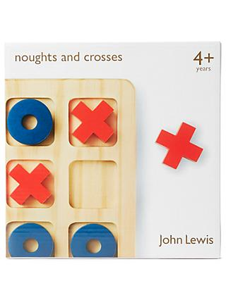 John Lewis & Partners Noughts And Crosses Wooden Game