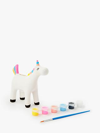 John Lewis & Partners Paint Your Own Unicorn Money Box