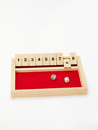John Lewis & Partners Shut The Box Wooden Game
