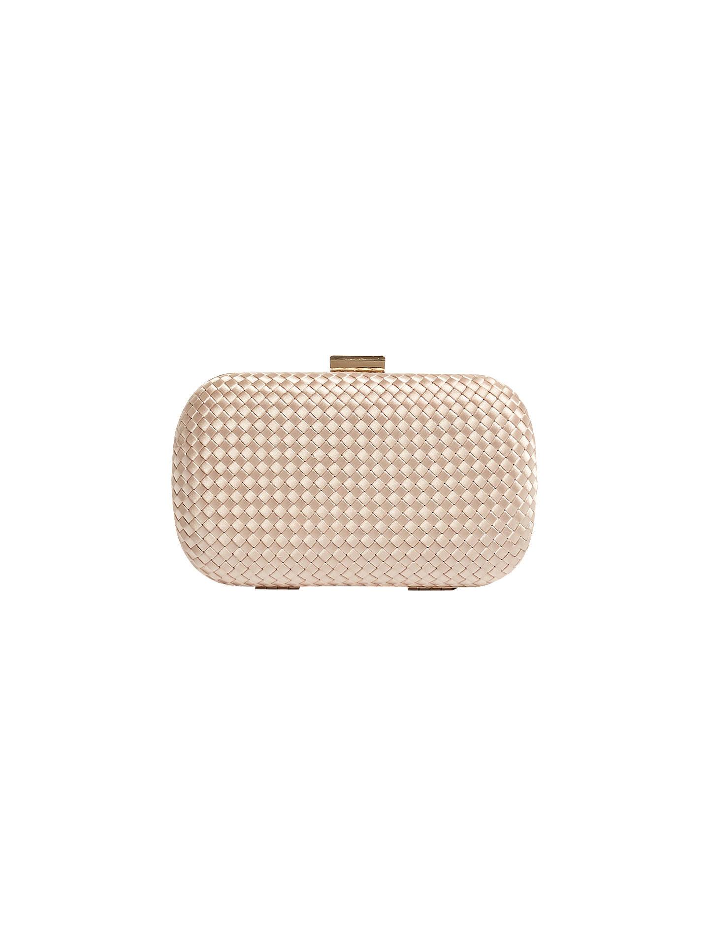 4958c4d6443 Buy Karen Millen Plaited Box Clutch Bag, Nude Online at johnlewis.com ...