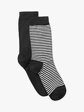3ec2c4efe64 John Lewis   Partners Feeder Stripe and Monochrome Wide-Fit Ankle Socks