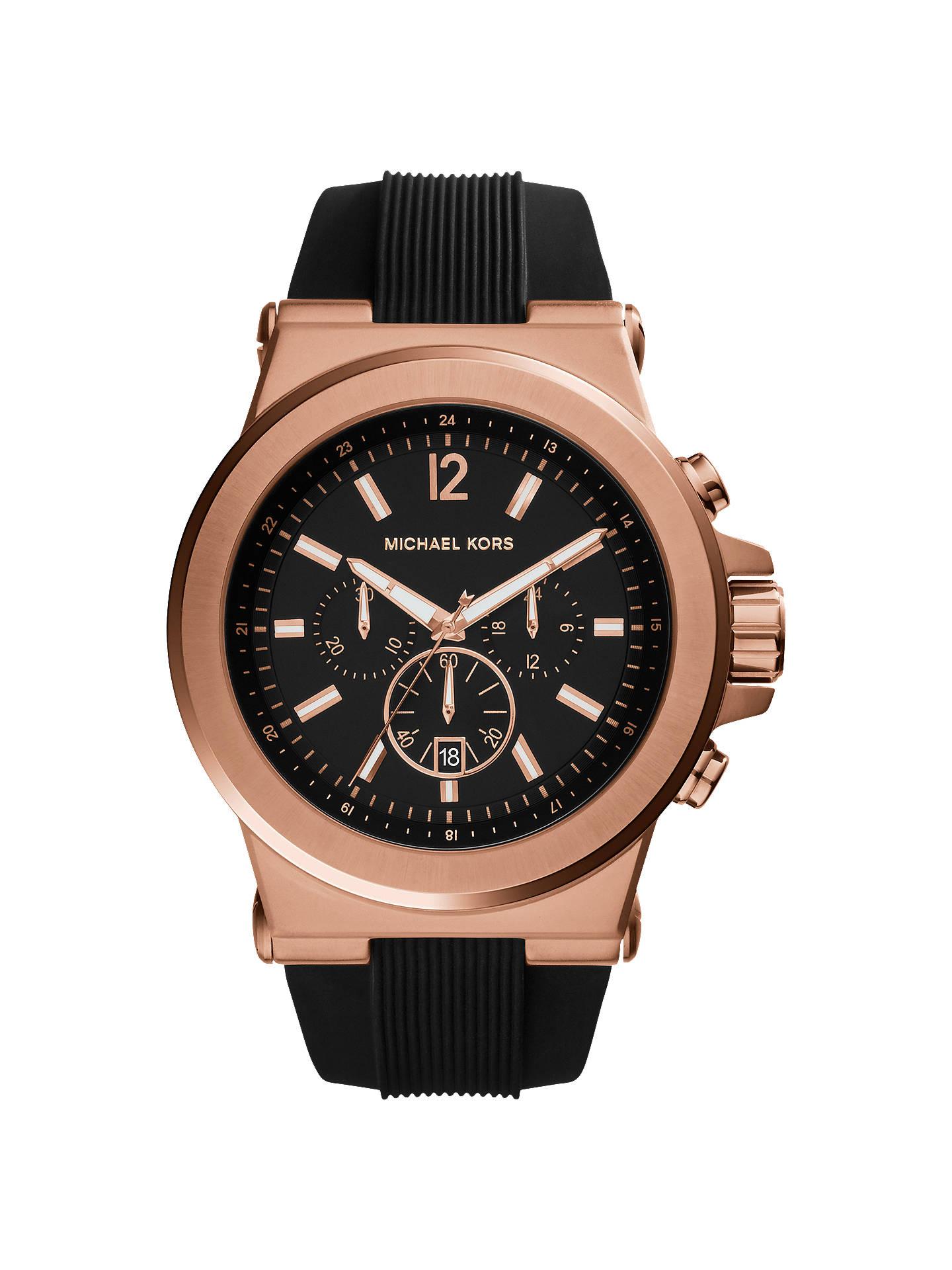 3de2d5f0d143 Michael Kors Men s Dylan Chronograph Date Silicone Strap Watch ...