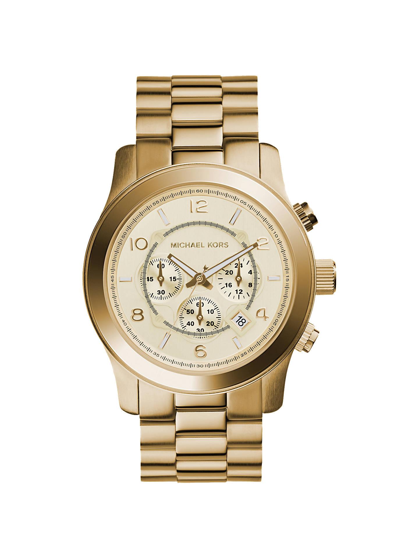 2706df1af426 Buy Michael Kors MK8077 Men s Runway Chronograph Date Bracelet Strap Watch