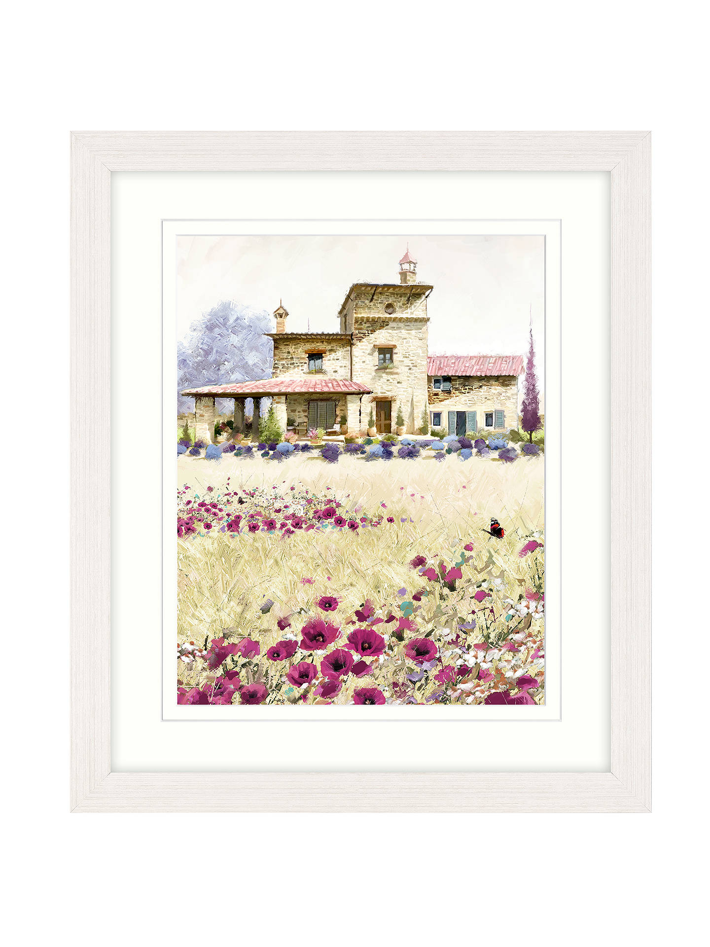BuyRichard Macneil - Tuscan Poppies 3 Framed Print & Mount, 57 x 67cm Online at johnlewis.com