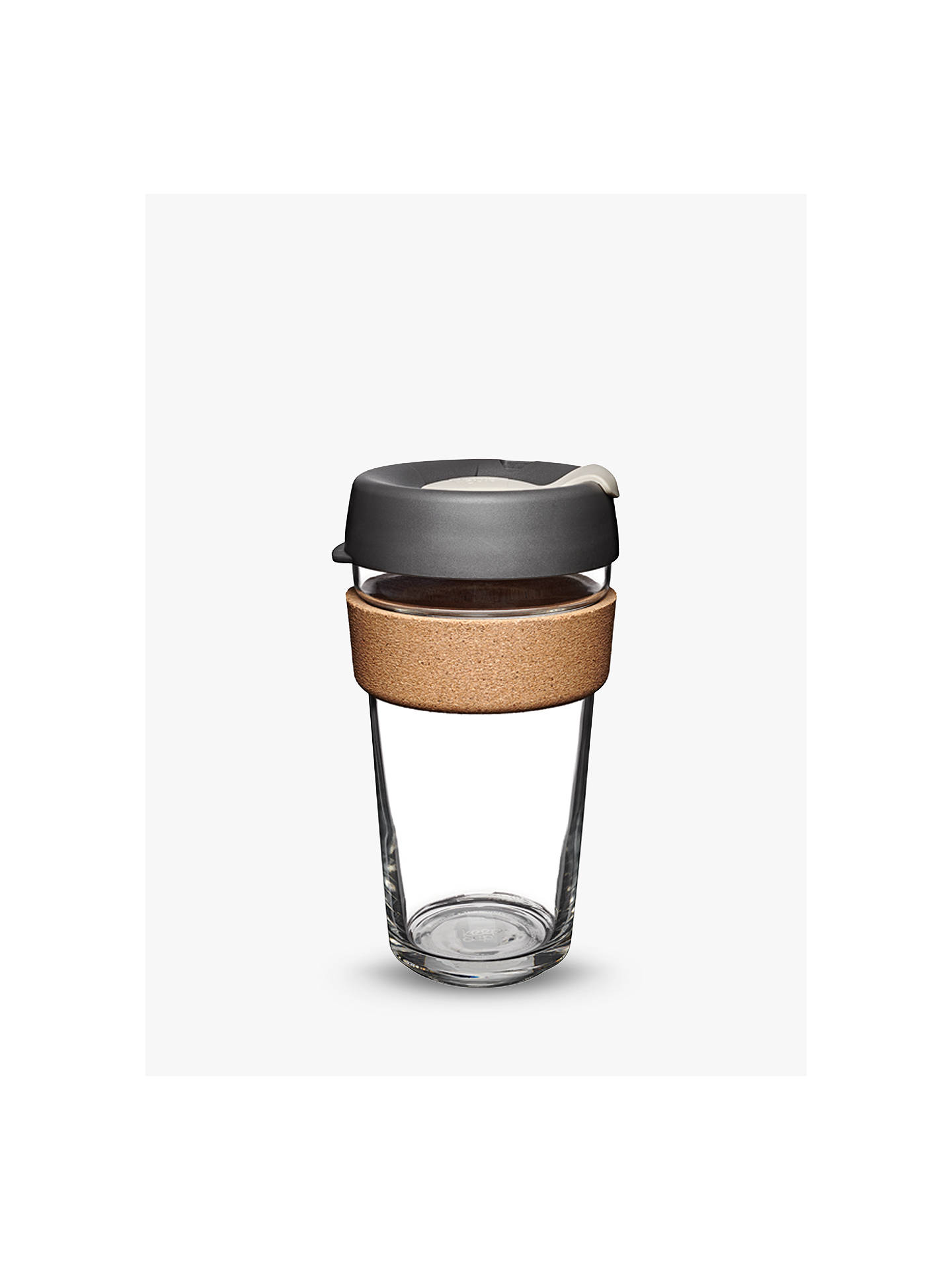 Buy KeepCup Cork Brew Reusable 16oz Glass Coffee Cup / Travel Mug, 455ml Online at johnlewis.com