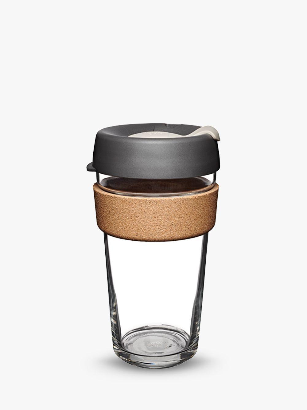 KeepCup Cork Brew Reusable 16oz Glass Coffee Cup / Travel Mug, 455ml