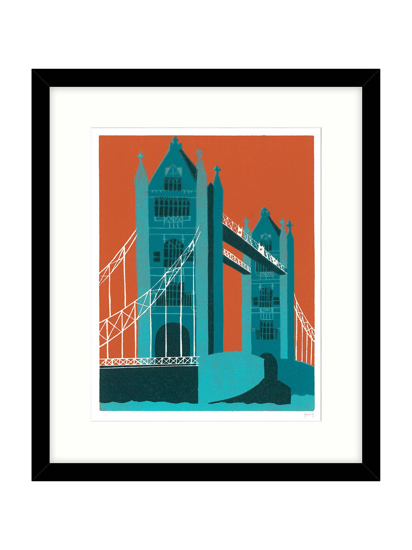 Jennie Ing Tower Bridge Framed Print Mount 64 X 54cm Online At Johnlewis