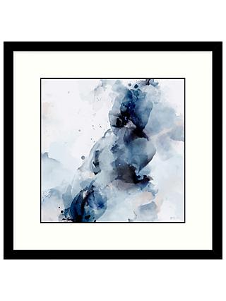 Green Lili - Aura Abstract 2 Framed Print & Mount, Blue, 53.5 x 53.5cm
