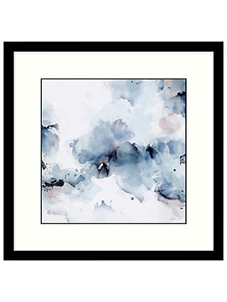Green Lili - Aura Abstract 1 Framed Print & Mount, Blue, 53.5 x 53.5cm