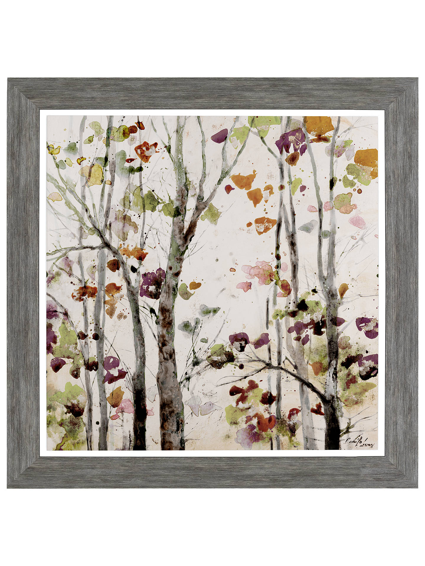 BuyCamilla Leroux - Amber Light Framed Print & Mount, 70 x 70cm Online at johnlewis.com