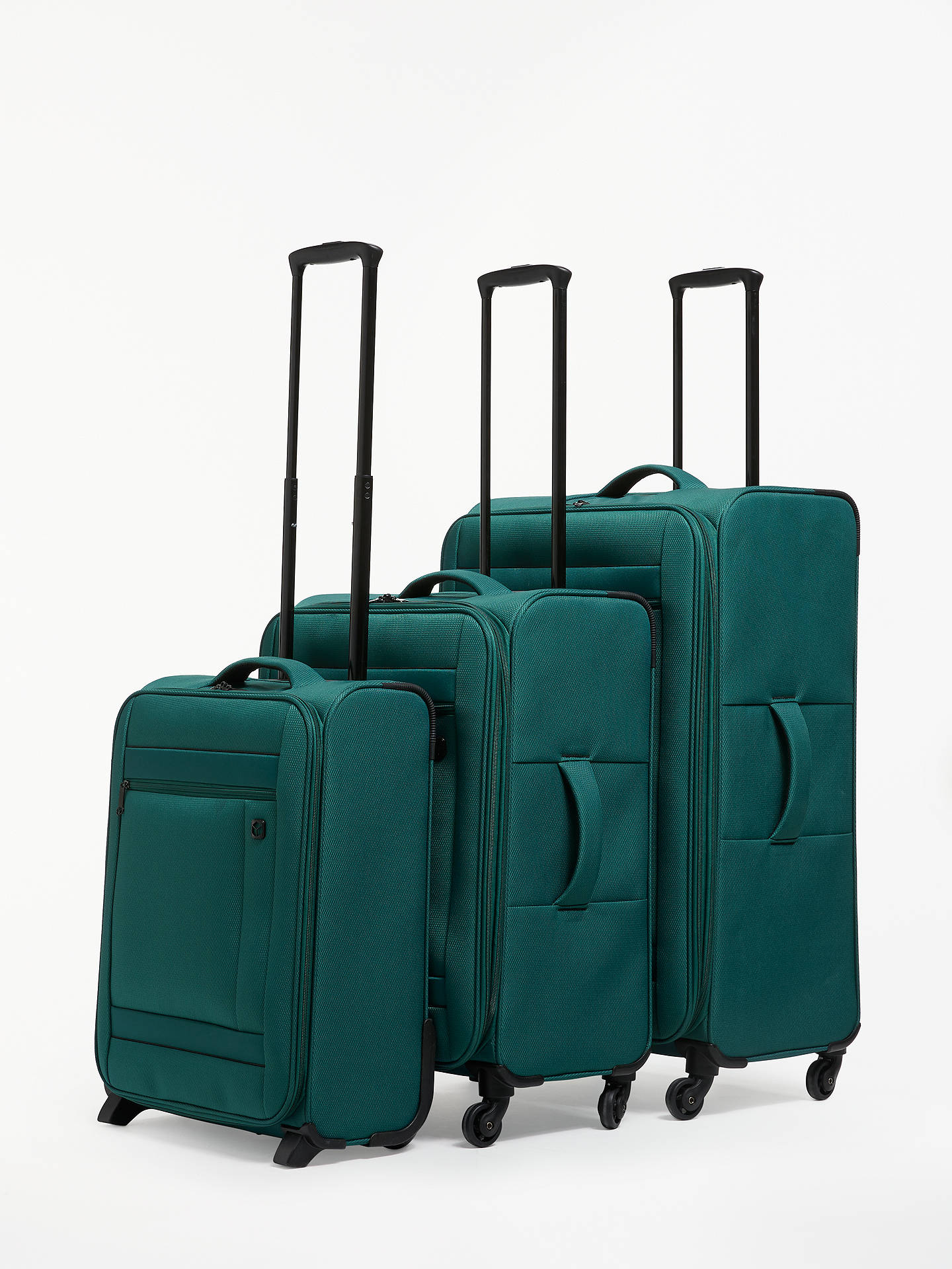 BuyQubed Angle 2-Wheel 55cm Cabin Case, Teal Online at johnlewis.com
