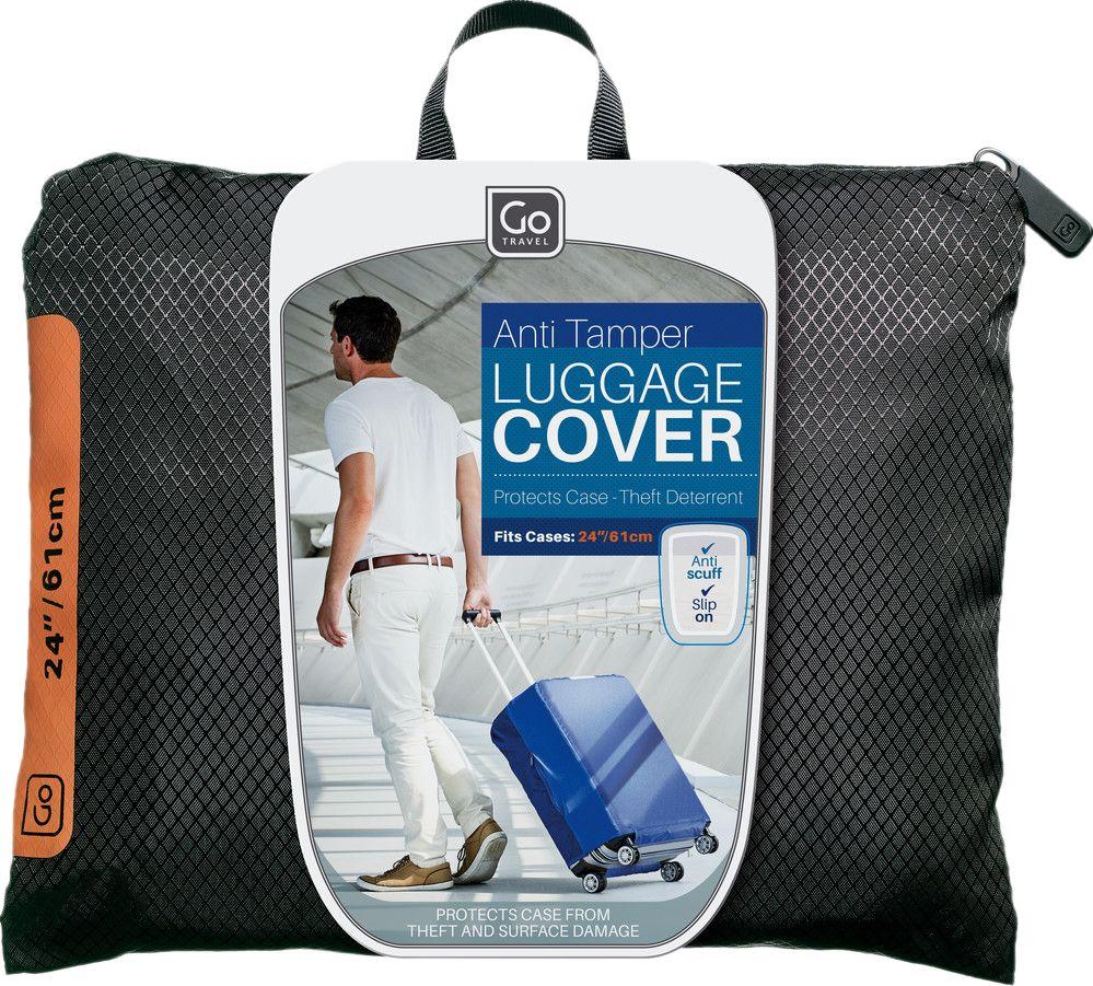 Go Travel Go Travel Anti Tamper Luggage Cover, Medium, Assorted Colours