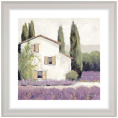 Image of Adelene Fletcher - Lavender Cottage Framed Print & Mount, 38 x 38cm