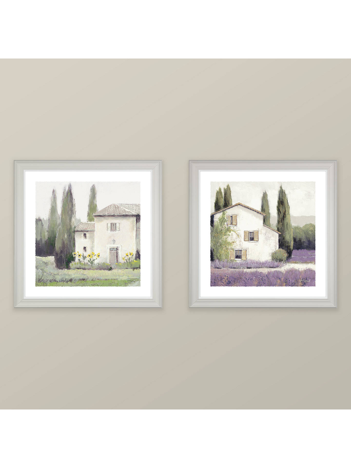 BuyAdelene Fletcher - Lavender Cottage Framed Print & Mount, 38 x 38cm Online at johnlewis.com