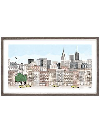 Franzi - New York Cityscape Framed Print & Mount, 24 x 40cm