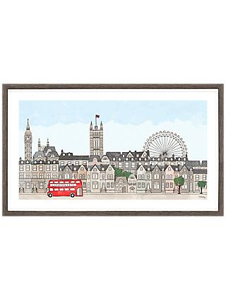 Franzi - London Cityscape Framed Print & Mount, 24 x 40cm