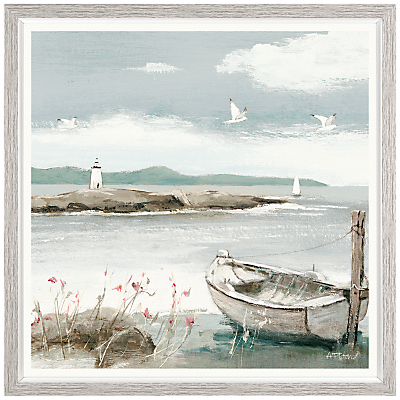 Image of Adelene Fletcher - Call Of The Sea Framed Print & Mount, 37 x 37cm