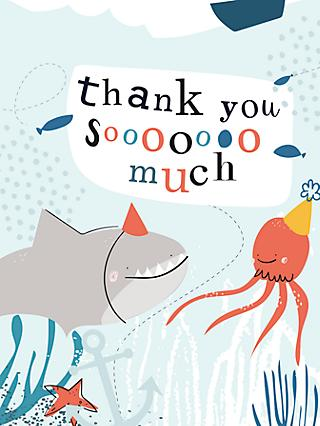 Caroline Gardner Under the Sea Thank You Note Cards, Pack of 10