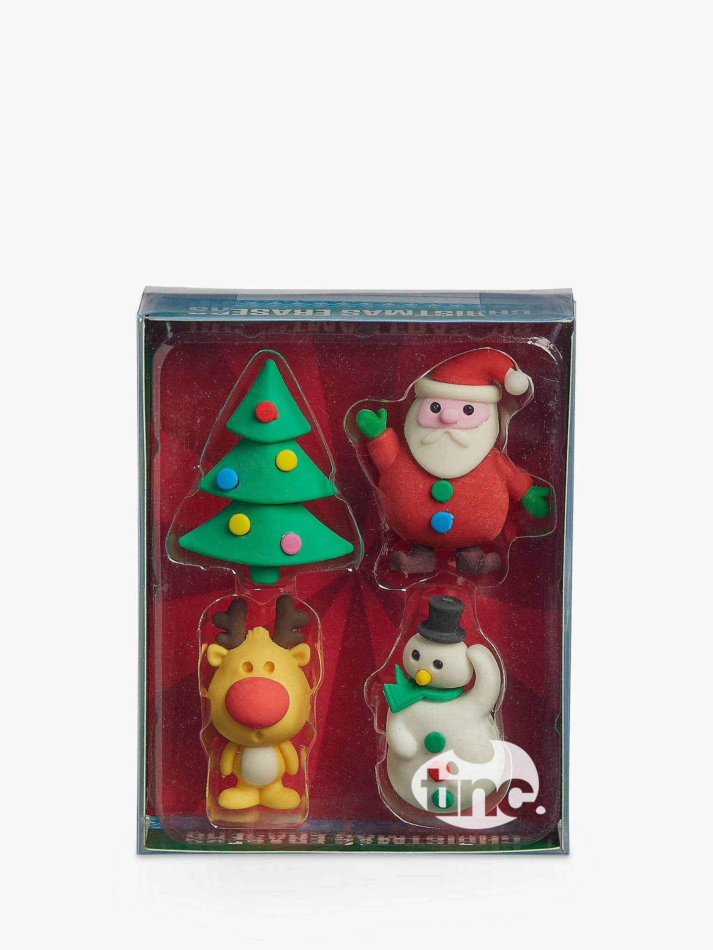 BuyTinc Christmas Erasers, Pack of 4 Online at johnlewis.com