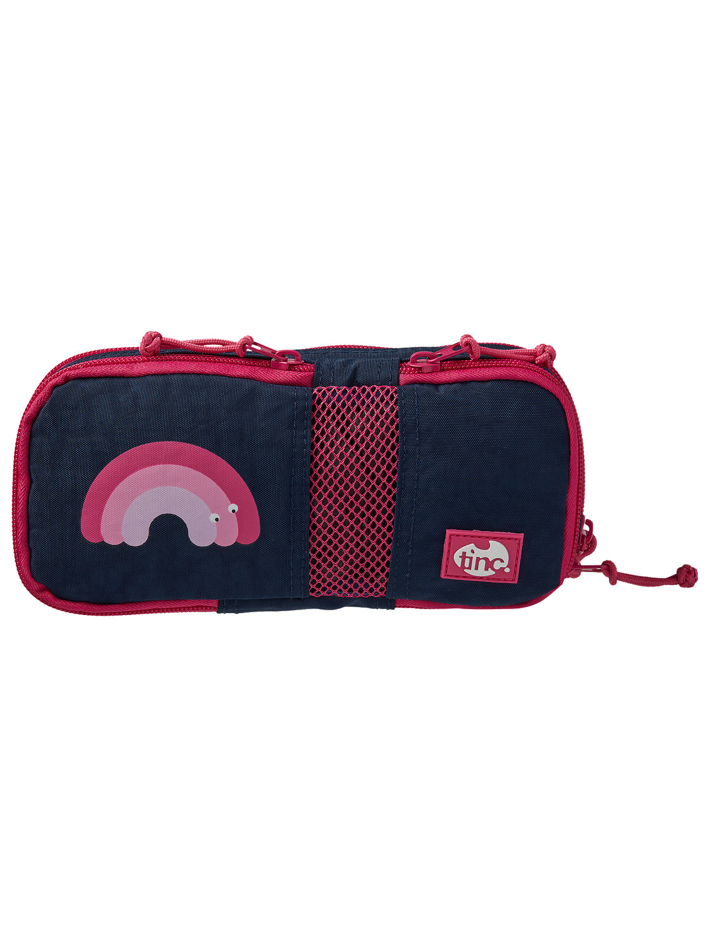 BuyTinc Mallo Compartment Pencil Case, Navy/Pink Online at johnlewis.com