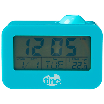Tinc Time Beam Digital Projection Clock, Blue
