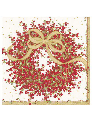 Buy Caspari Pepperbury Paper Dinner Napkin, Pack of 20 Online at johnlewis.com