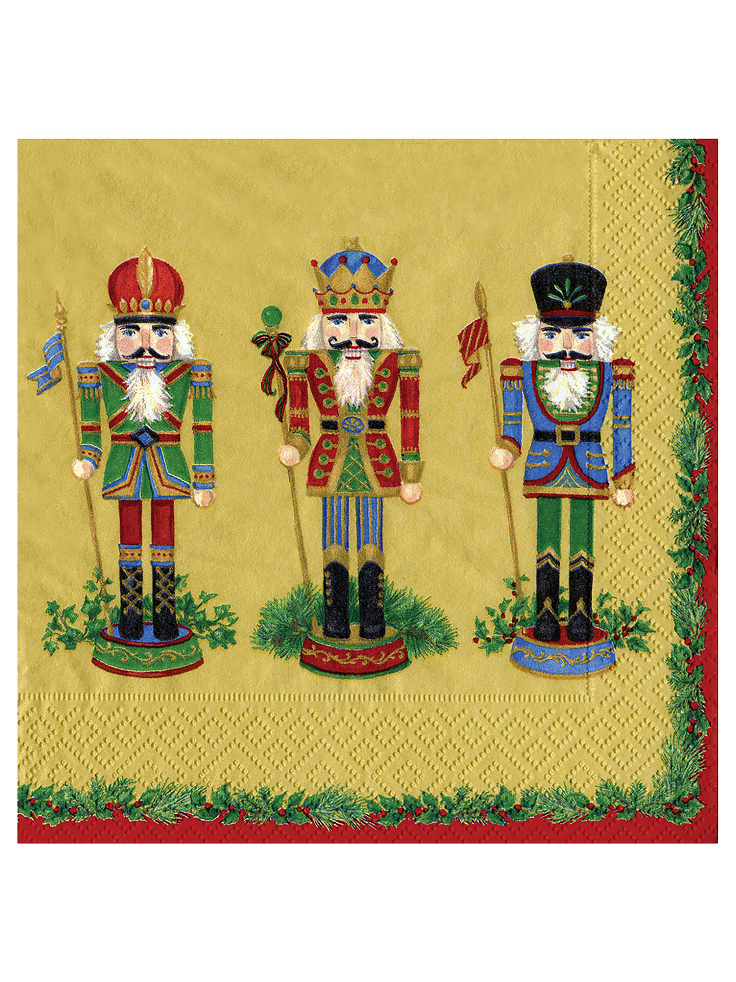 Buy Caspari Nutcracker Paper Lunch Napkin, Pack of 20 Online at johnlewis.com