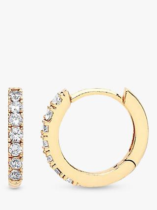 Estella Bartlett Cubic Zirconia Pave Set Hoop Earrings