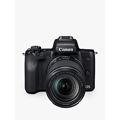 Canon EOS M50 Compact System Camera with EF-M 18-150mm f/3.5-6.3 IS STM lens, 4K Ultra HD, 24.1MP, Wi-Fi, Bluetooth, NFC, OLED EVF, 3 Vari-Angle Touch Screen
