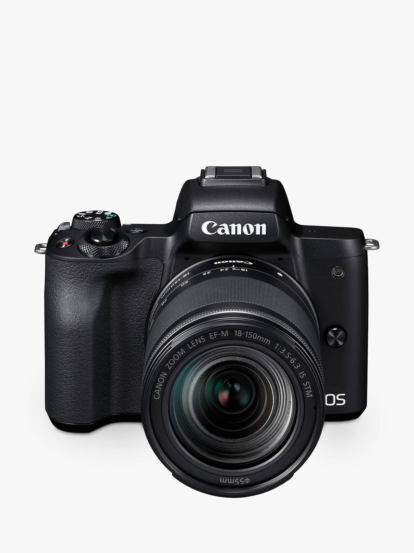 canon eos m50 compact system camera with ef m 18 150mm f 3 5 6 3 is rh johnlewis com