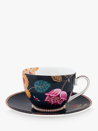 PiP Studio Floral Fantasy Porcelain Cup and Saucer, 280ml