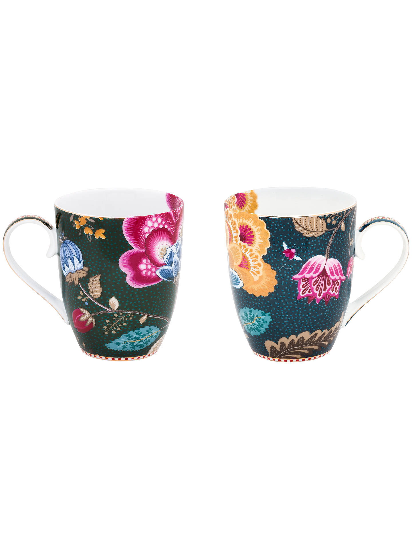 BuyPiP Studio Floral Fantasy Porcelain Large Mugs, Set of 2, 350ml, Assorted Online at johnlewis.com